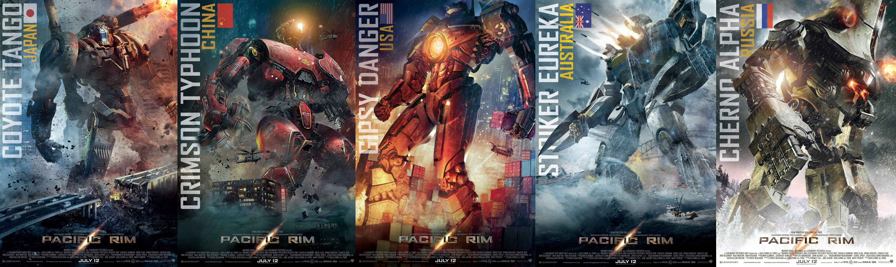 Movie Review: PACIFIC RIM! - Nerds in Hell Pacific Rim Jaeger Posters